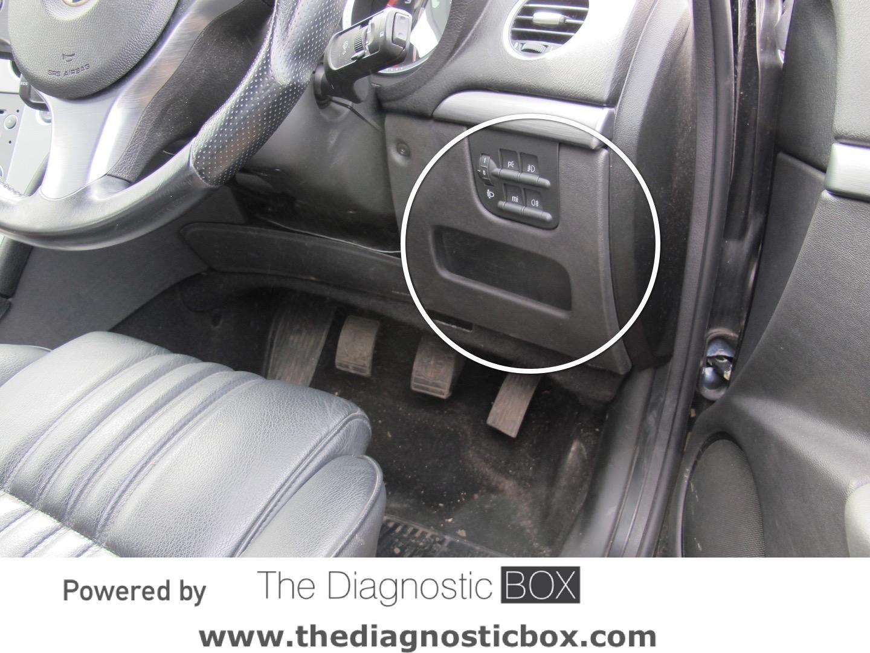 Diagnostic Socket Locator Alfa Romeo Steering Box 159